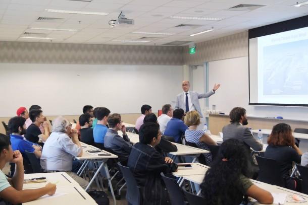 Prof. Bottaso (TUM) giving his presentation at DAAD and TUM Asia's Speaker Series