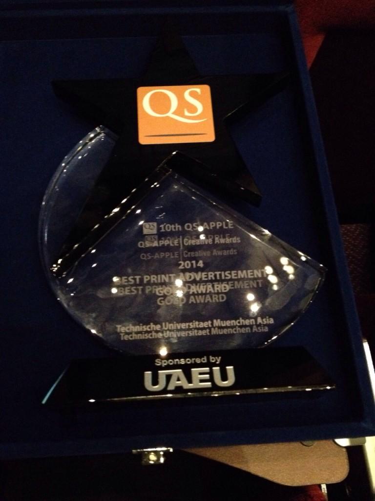 QS APPLE TUM Asia Award